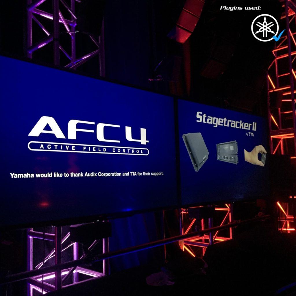 Stagetracker II showcase. Audio tracking with Yamaha plugin at InfoComm Orlando